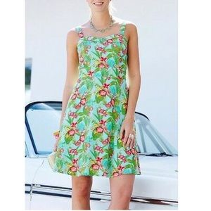 Anthro floral pin up tropical beach dress 8 sm md